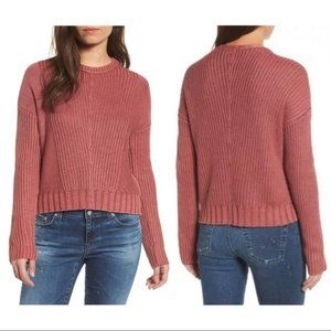 RAILS Evan Washed Pink Knit Sweater Women's Medium